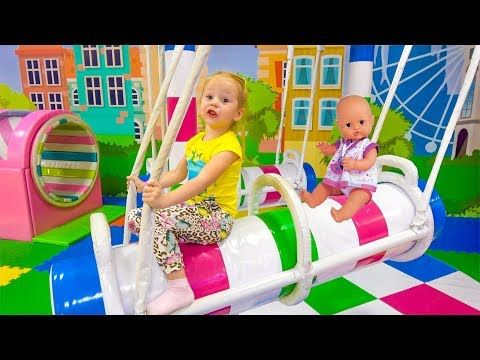 Thumbnail: Indoor Playground with baby born doll Playtime Family Fun play area for kids Nursery Rhymes Songs