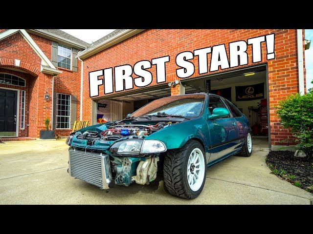 FIRST START IN THE eBAY TURBO CIVIC!