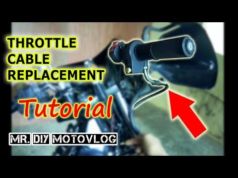 How to install Throttle Cable on Honda XRM 125 Trinity Carb
