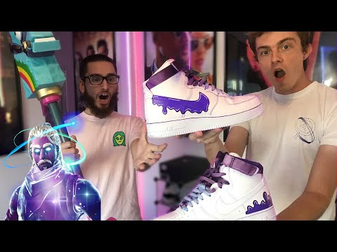 I Surprised Randumb With Custom Fortnite Galaxy Skin Sneakers!