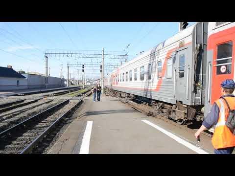 Отправление поезда № 101 Пенза - Нижневартовск под тягой 2ТЭ10У-0367А/0146Б