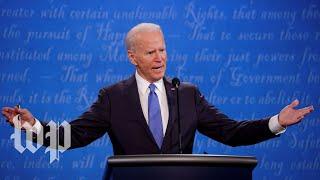 'C'mon man': Biden's consistent refrain to Trump at the final debate