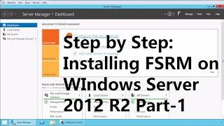 22. Installing FSRM on WIndows Server 2012 R2