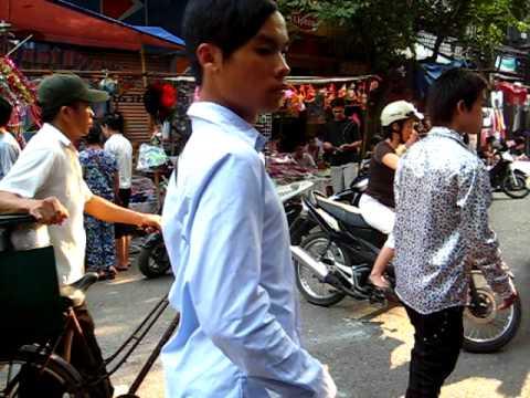 Busy Downtown Hanoi