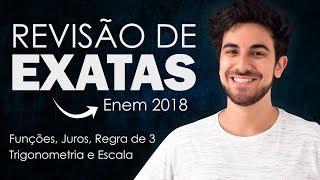 REVISÃO DE MATEMÁTICA PARA O ENEM 2018 - Grandezas Proporcionais, Regra de 3, Juros e Trigonometria thumbnail