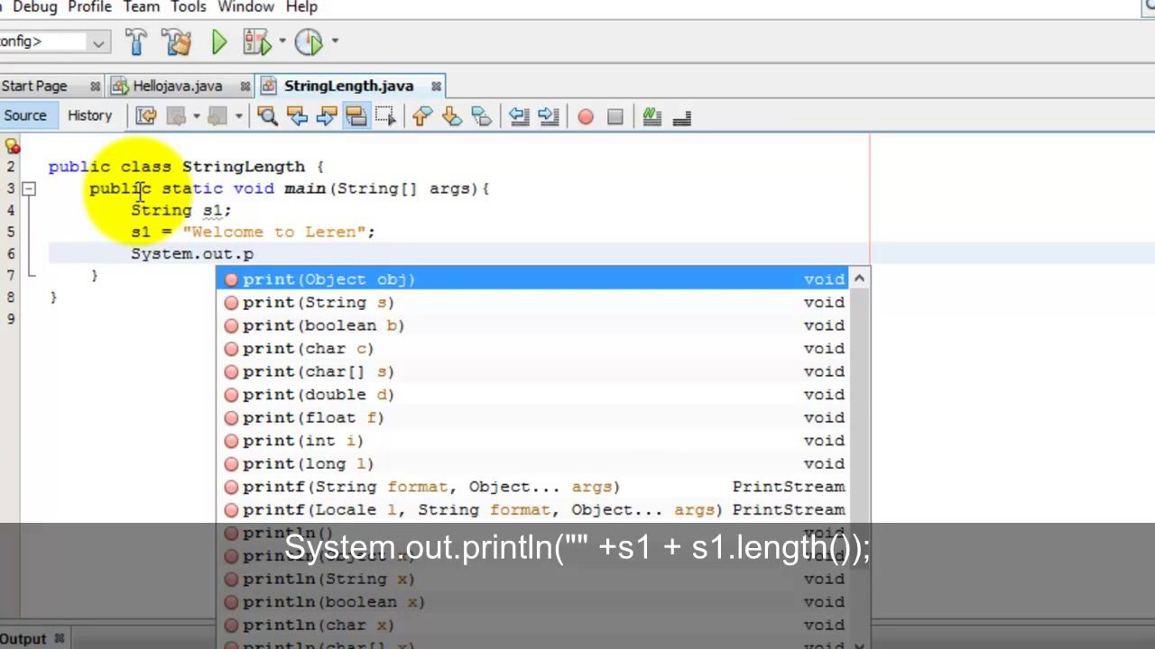 Java tutorials create a program to find out length of string java tutorials create a program to find out length of string baditri Choice Image