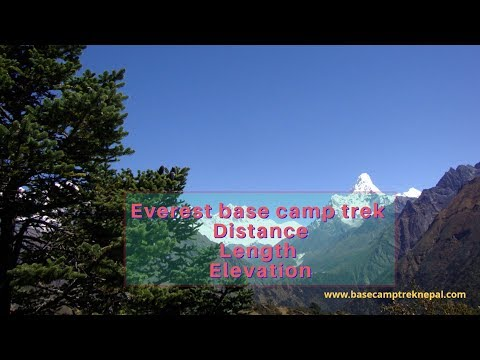 The Mount Everest Base Camp Trek Distance, Length And Duration