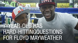 7-Year-Old Has Hard-Hitting Questions for Floyd Mayweather