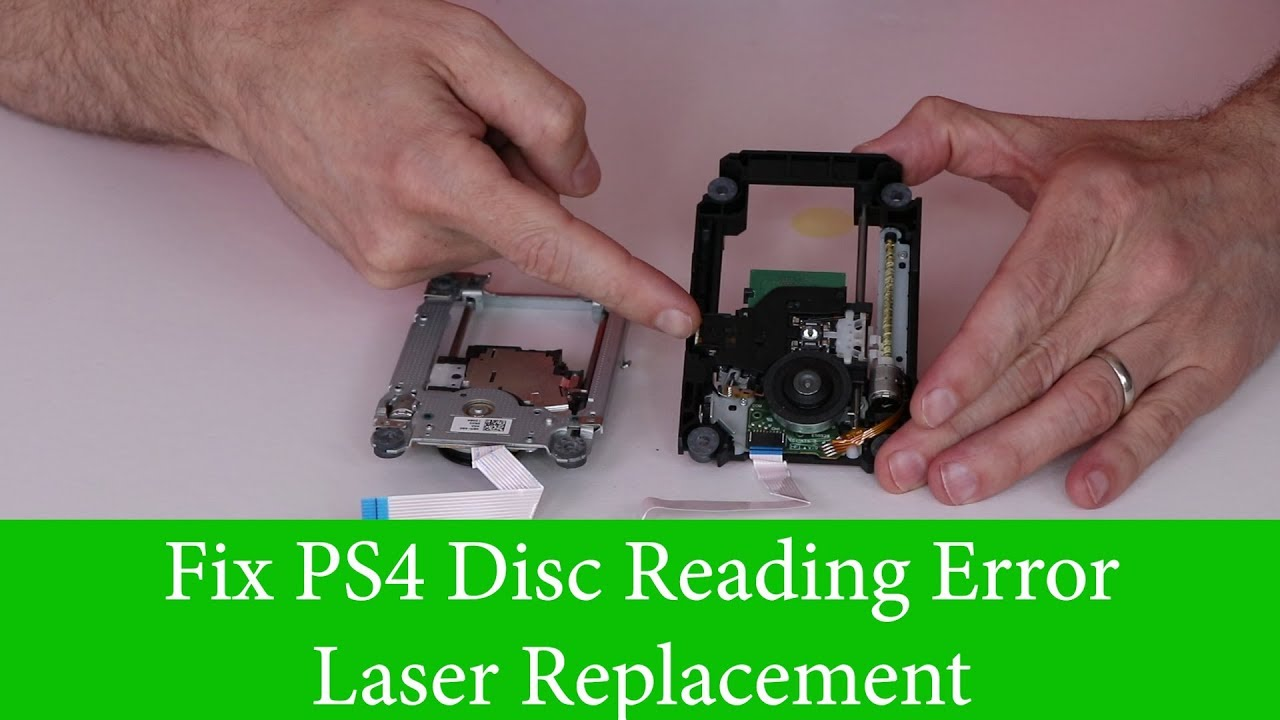 PS4 Disc Reading Error - Laser Fix - How to Repair Blu Ray Drive