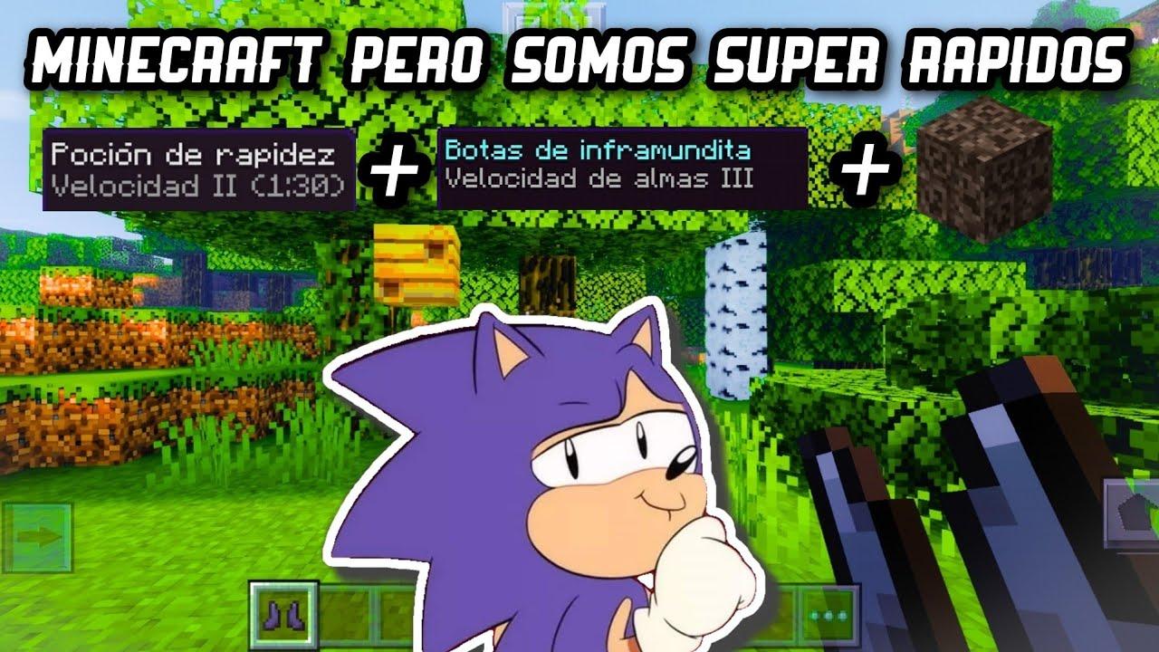 Cómo volverse Sonic en Minecraft en 3 pasos