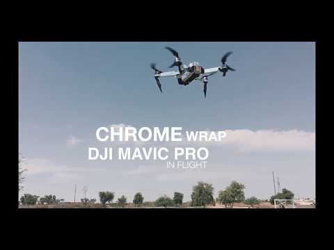 DJI MAVIC PRO WITH CHROME VINYL WRAP