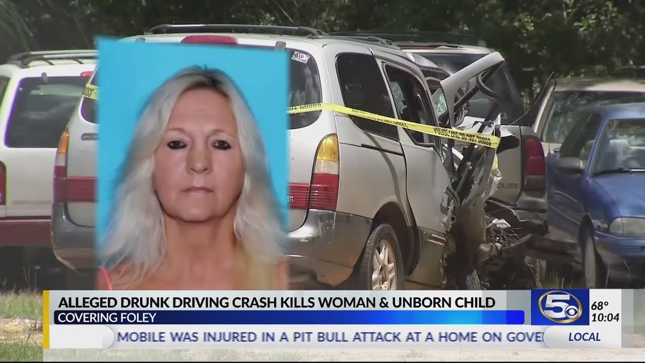 Alleged drunk driver who killed pregnant woman in Foley crash out of jail  on bond