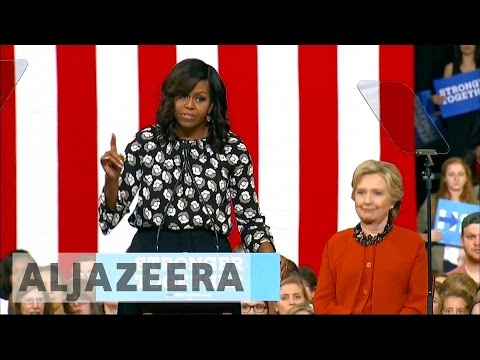 US election: Michelle Obama joins Hillary Clinton on the campaign trail