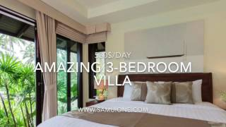 Luxury 3-bedroom Villa in Paradise. Samui island. Thailand 2017