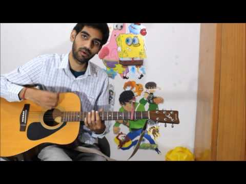 Bollywood Romantic Medley Hit Songs - Simple Open chords hindi guitar cover lesson