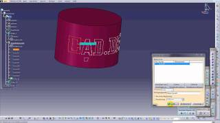 3DText for CATIA - Cylinder 1