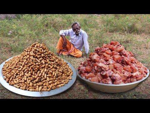 Peanut CHICKEN !!! Prepared by My Daddy Arumugam / Village food factory