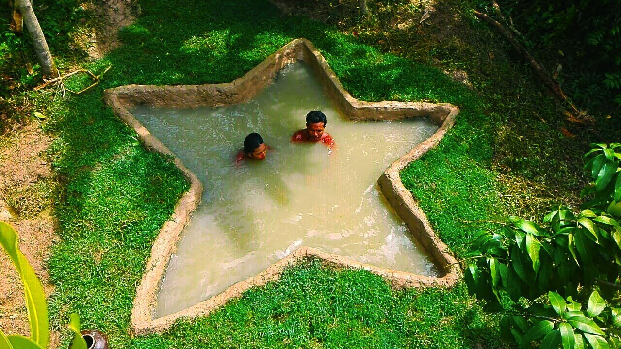 Build Mini Underground Star Swimming Pool