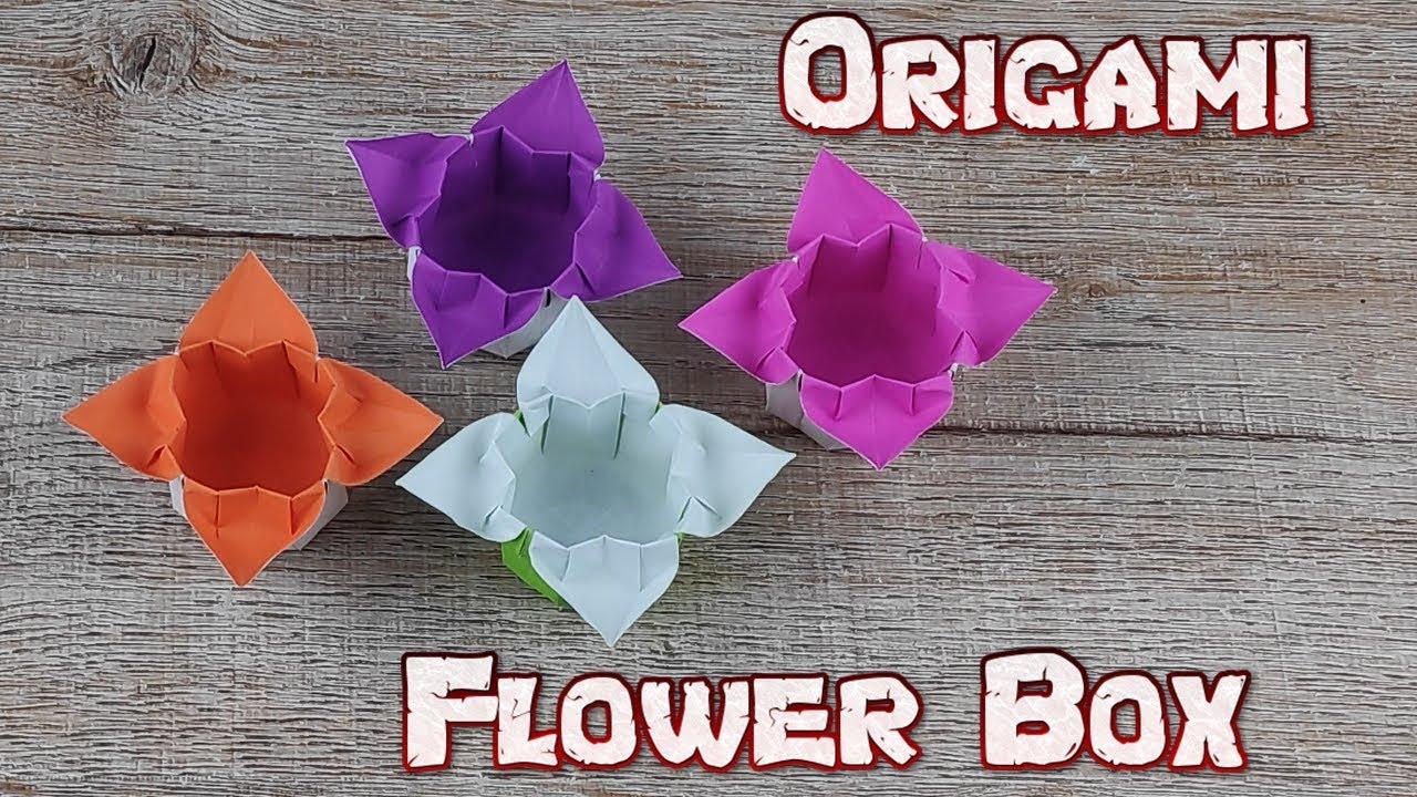 origami hydrangea flower box - YouTube   720x1280