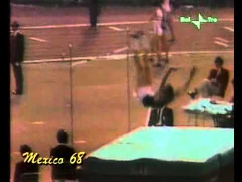 Mexico 1968 high Jump Final (Fosbury 2.24m Ed charuters 2.22m).wmv
