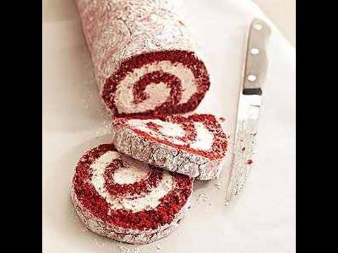 Red Velvet Cake Roll For Diabetics