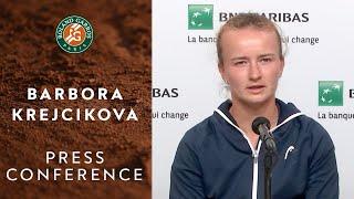 Barbora Krejcikova - Press Conference after Semi-Final   Roland-Garros 2021
