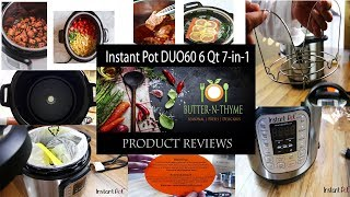 Review - UnBoxing | Instant Pot DUO60 6 Qt 7-in-1 Multi-Use Programmable Pressure Cooker