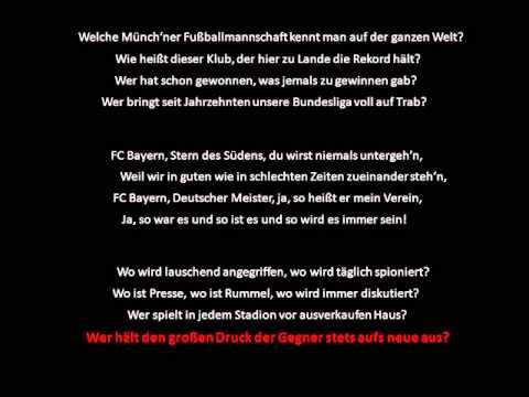 FC Bayern Stern des Südens (with lyrics)