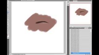 how to draw realistic eyebrow Photoshop cs5 | как нарисовать реалистичную бровь в фотошопе