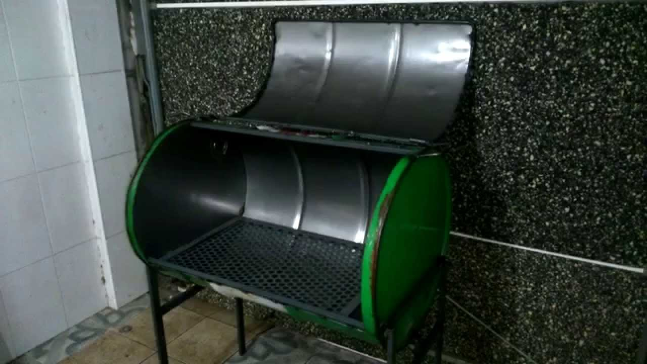 Barbacoa barril diy youtube - Como se construye una barbacoa ...