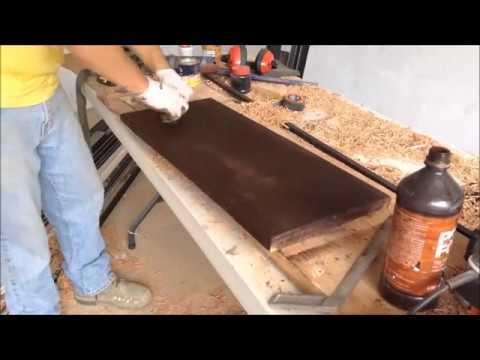 C mo poner escalones de madera a una estructura de metal parte 2 youtube for Partes de una escalera