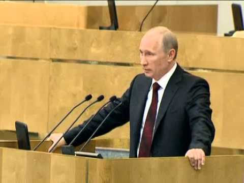 April 11, 2012 Russia_Putin reports results of his premiership to State Duma