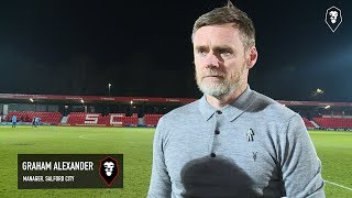 Salford City 1-3 Shrewsbury Town | Emirates FA Cup 1st Round Replay | Graham Alexander post-match in