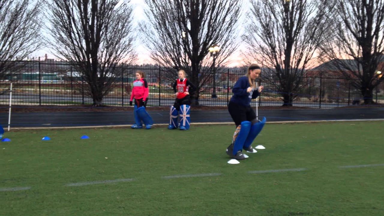 Field Hockey Goalie Fitness And Footwork Drill Youtube