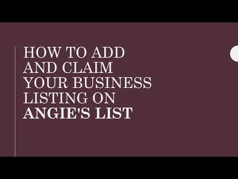 How to add and claim your business listing on Angie's list