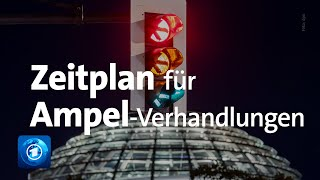 Beginn der Koalitionsverhandlungen: SPD, Grüne und FDP legen ambitionierten Zeitplan vor