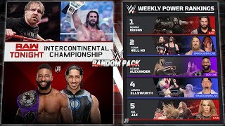 WWE RANDOM REMAKE PACK 2018(Raw,Extreme Rules And Weekly Power Rankings)PSD Y PARTES BY Jika