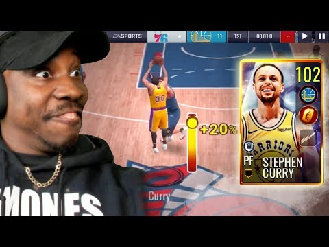 102 OVR GOLDEN TICKET STEPH CURRY! NBA Live Mobile 19 Season 3 Ep  77