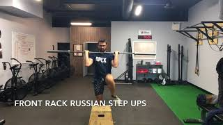 Front Rack Russian Step Ups