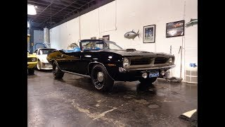 Black Widow Cuda a 1970 Plymouth Convertible & 440 Engine Sound on My Car Story with Lou Costabile