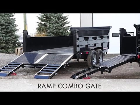 Ultimate Spring Assisted Ramp COMBO Door - ACTION TRAILER SALES