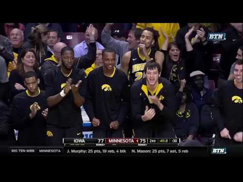 Iowa at Minnesota - Men's Basketball Highlights