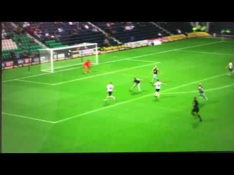 Sean Maguire  Debut Goal  Preston North End V Burnley FC  July 25th 2017