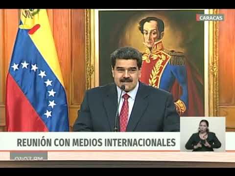 Nicolás Maduro, rueda de prensa completa con medios internacionales, 25 enero 2019