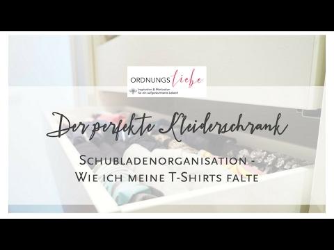 Der Perfekte Kleiderschrank T Shirts Falten Video