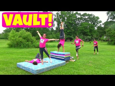 First Time Attempting Vault   Making A Gymnastics Vault Table   Self-Taught Gymnastics