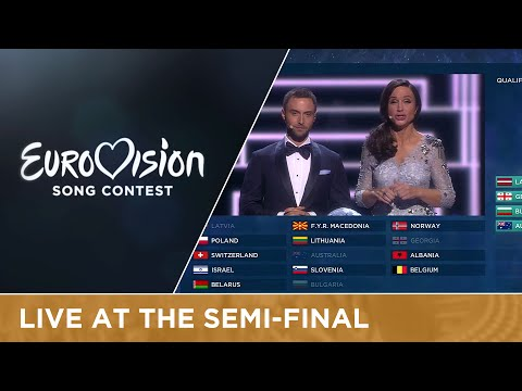 Qualifier announcement of Semi-Final 2 of the 2016 Eurovision Song Contest