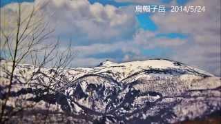 残雪の乳頭山(烏帽子岳)に行ってきました。 (滝ノ上温泉ルート) 登山...