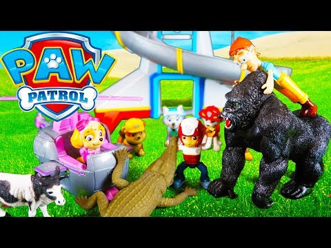 Paw Patrol Special Toys Video  Animal Rescue  with Chase, Marshall, Ryder, Skye and Captain Turbot