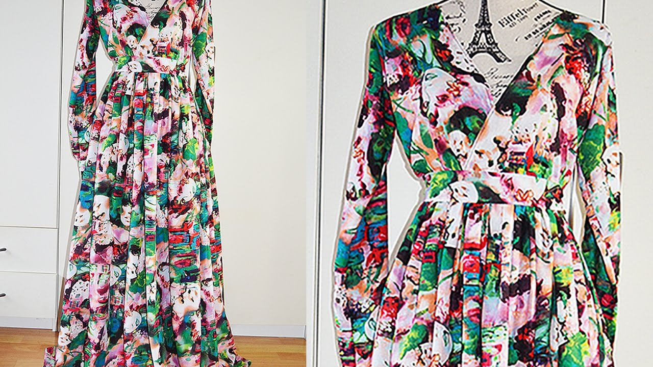 How to sew simple maxi dress
